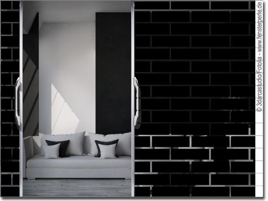 glasdekorfolie steinmauer. Black Bedroom Furniture Sets. Home Design Ideas