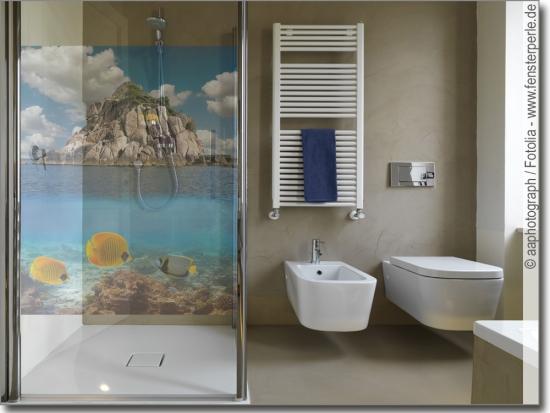 Glasbilder Für Badezimmer: Sichtschutz Oder Deko Für Bad & WC