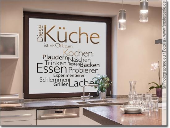 Fensterfolie Küche: Sichtschutz oder Glasdesign nach Maß