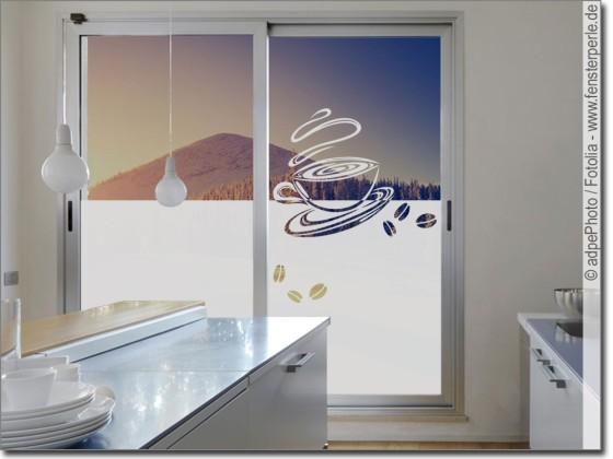 Fensterfolie Küche glastattoo kaffee genuss | fensterperle.de