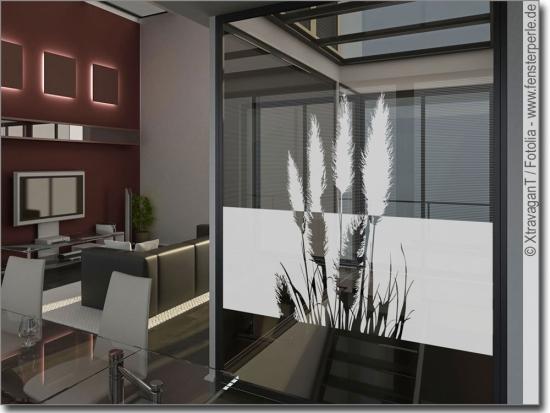 Sichtschutzfolie pampasgras for Klebefolie fenster sichtschutz