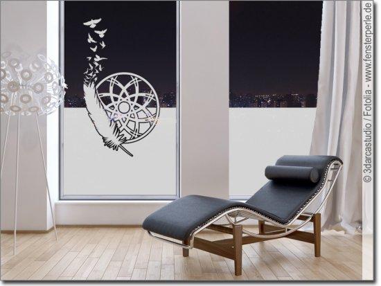 fensterfolie traumf nger feder. Black Bedroom Furniture Sets. Home Design Ideas