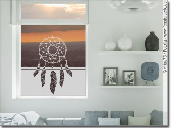 fensterfolie traumf nger. Black Bedroom Furniture Sets. Home Design Ideas