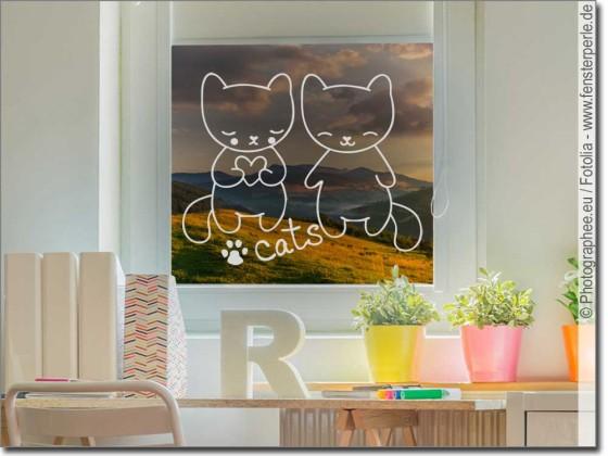 Fenstertattoo Cats
