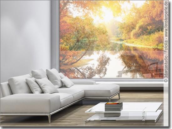 Glasbild herbst foto klebefolie f r glasfl chen for Bedruckte klebefolie