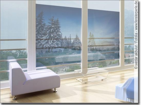 fensterbild schneelandschaft selbstklebende folie. Black Bedroom Furniture Sets. Home Design Ideas