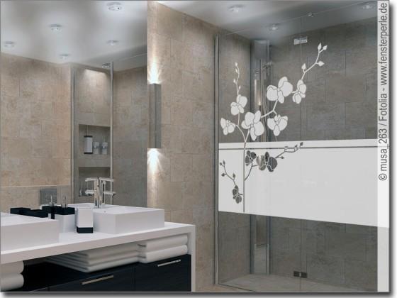 sichtschutzfolie orchidee. Black Bedroom Furniture Sets. Home Design Ideas