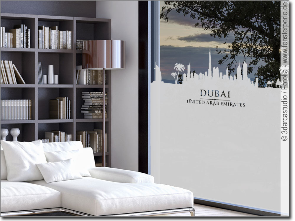 fensterfolie skyline dubai. Black Bedroom Furniture Sets. Home Design Ideas