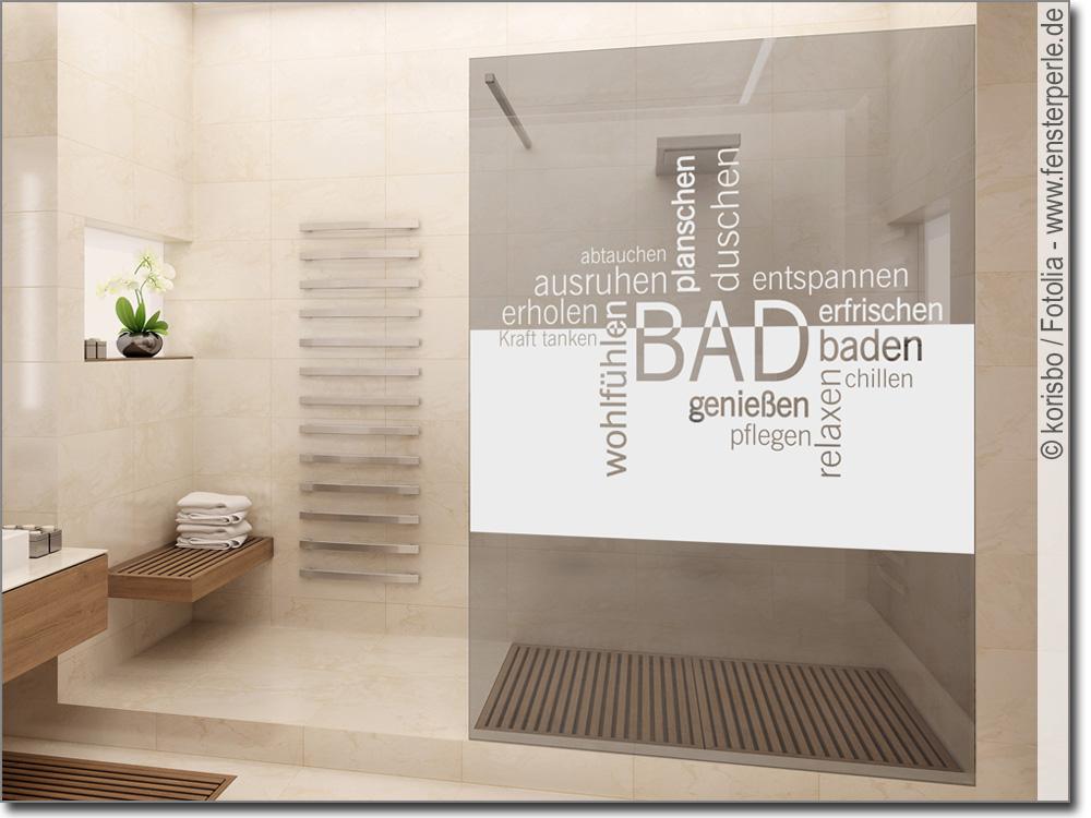 Fensterfolie Begriffe Bad