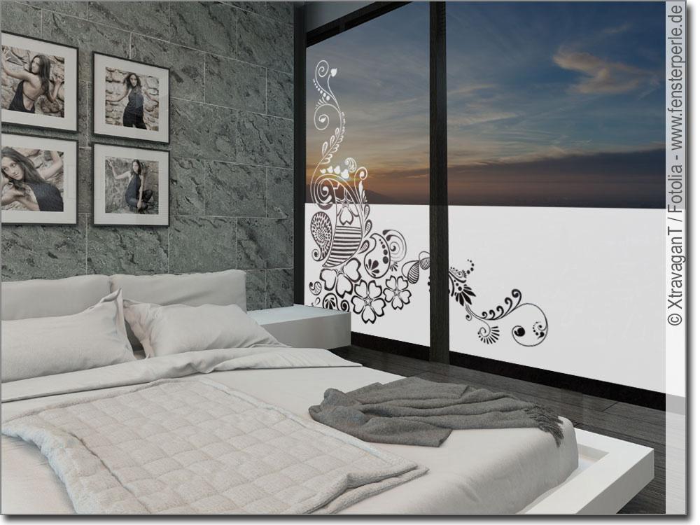 Fensterfolie Sichtschutz Ornament