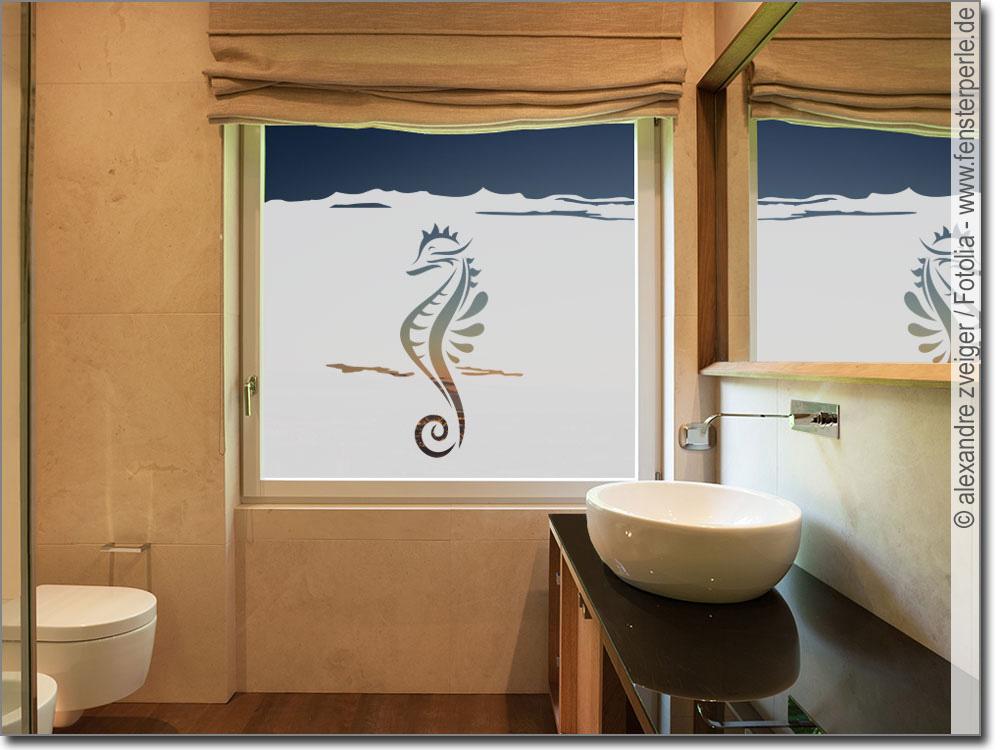 fensterfolie sichtschutz seepferdchen. Black Bedroom Furniture Sets. Home Design Ideas