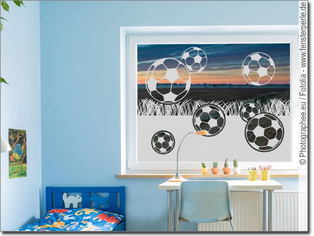 Sichtschutz Fußball   Fensterperle.de