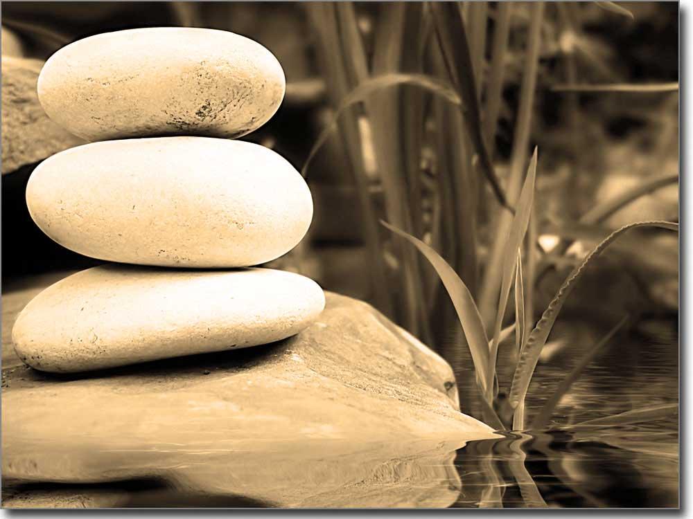 Druck Steine Am Wasser Passgenaue Fotofolie