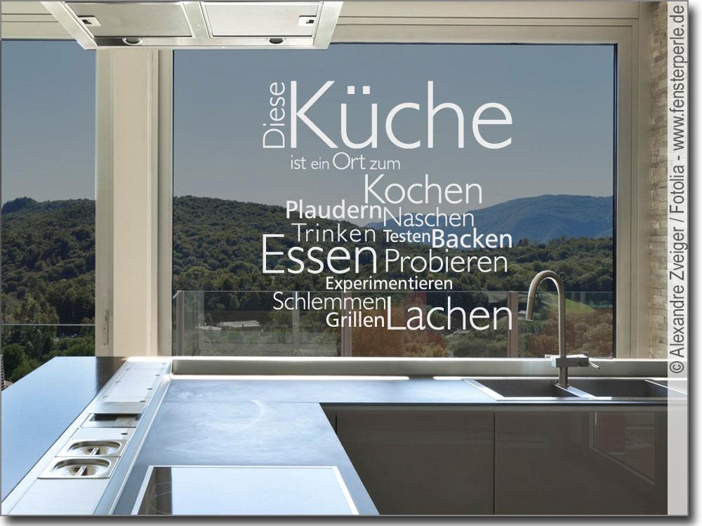 Küche Schutzwand fenstertattoo diese küche fensterperle de