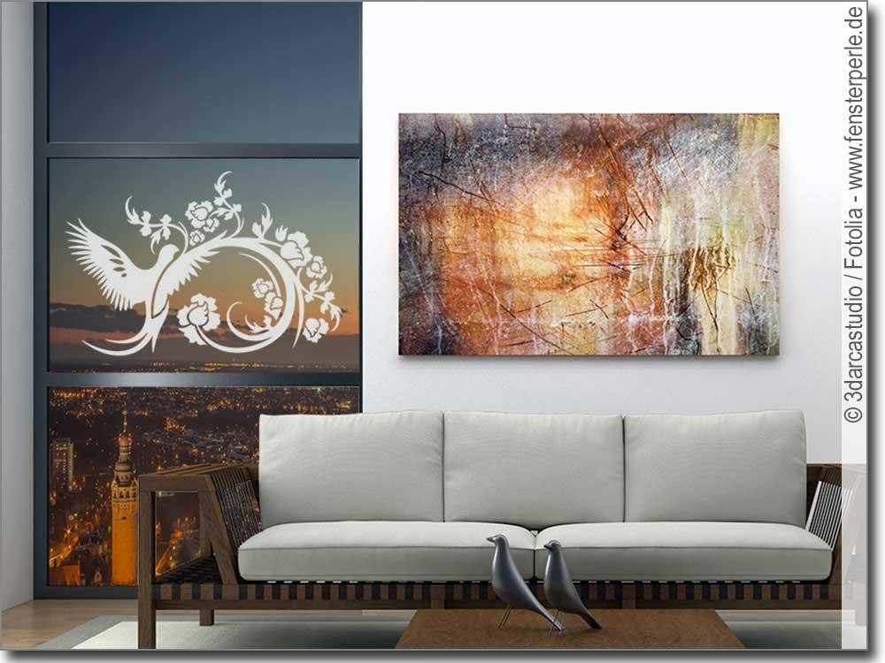glasaufkleber zauberornament. Black Bedroom Furniture Sets. Home Design Ideas