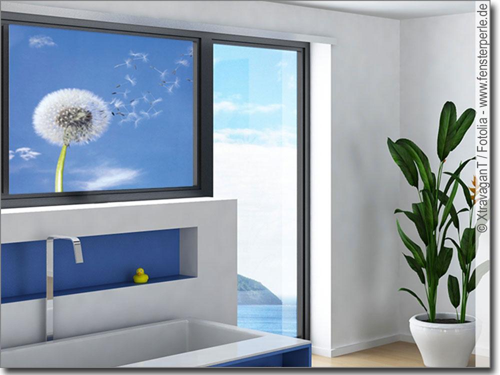 Glasbild pusteblume for Bedruckte klebefolie