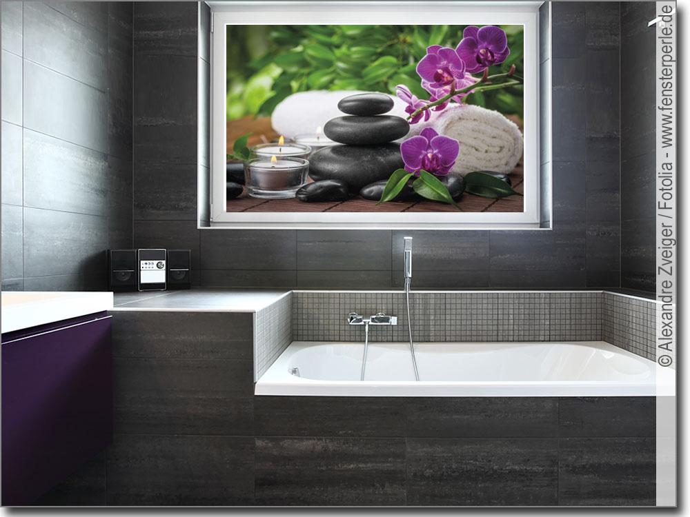 Glasbild spa stillleben - Glasbild badezimmer ...