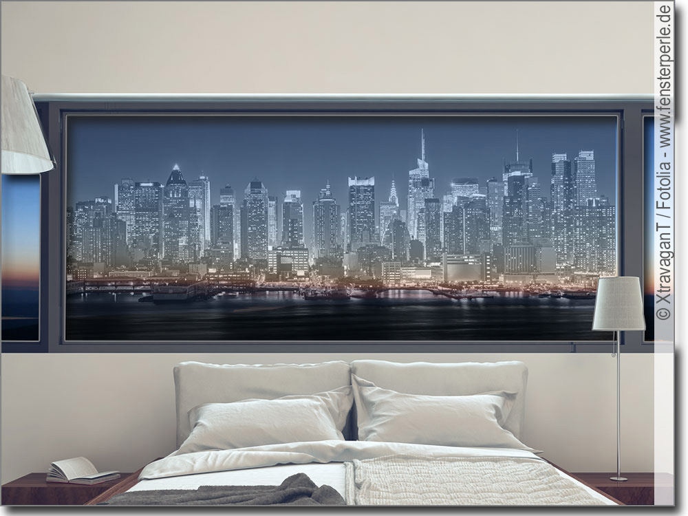 glasbild new york. Black Bedroom Furniture Sets. Home Design Ideas