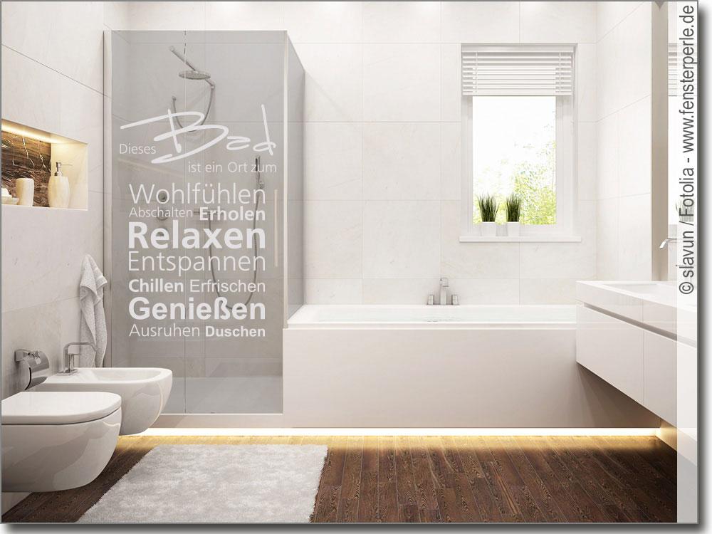Glasbilder Für Badezimmer: Fenstertattoo Dieses Bad