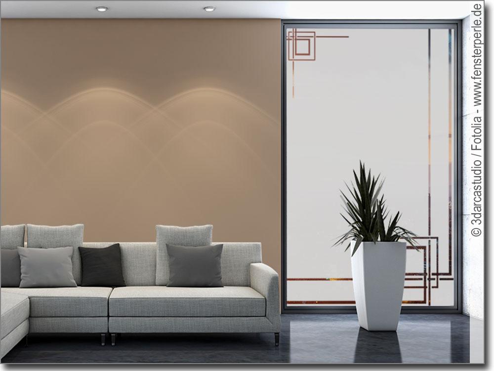 Glasdekorfolie modern art déco fensterperle