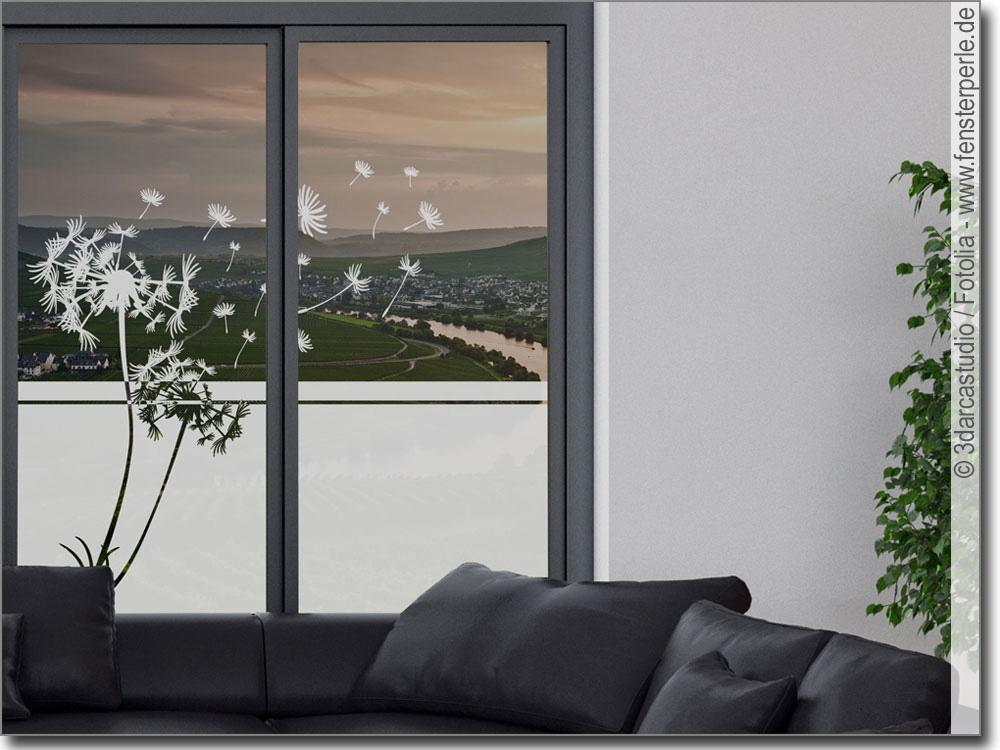 milchglasfolie sichtschutz pusteblume. Black Bedroom Furniture Sets. Home Design Ideas