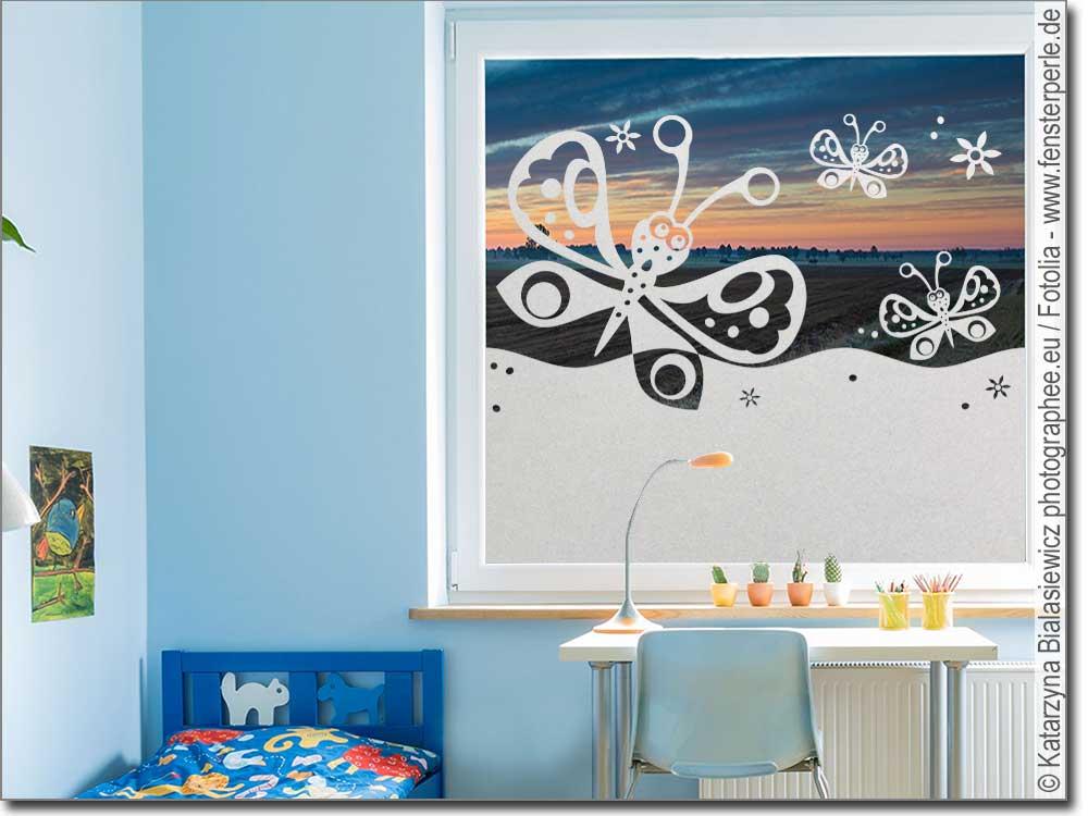 satinierte folie schmetterling. Black Bedroom Furniture Sets. Home Design Ideas