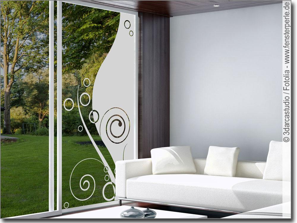 glasfolie glasornament modern. Black Bedroom Furniture Sets. Home Design Ideas