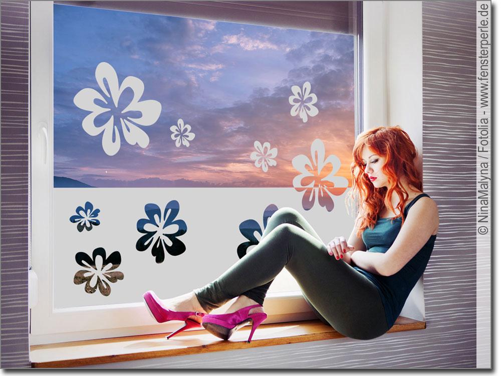 Sichtschutzfolie Blumen Motiv