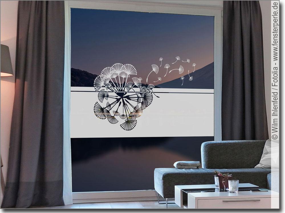 sichtschutzfolie f r glas pusteblume. Black Bedroom Furniture Sets. Home Design Ideas