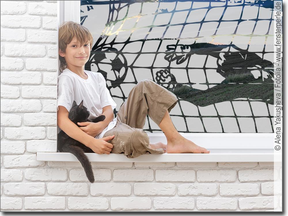 Glasdekorfolie fu balltor for Fussballtor kinderzimmer