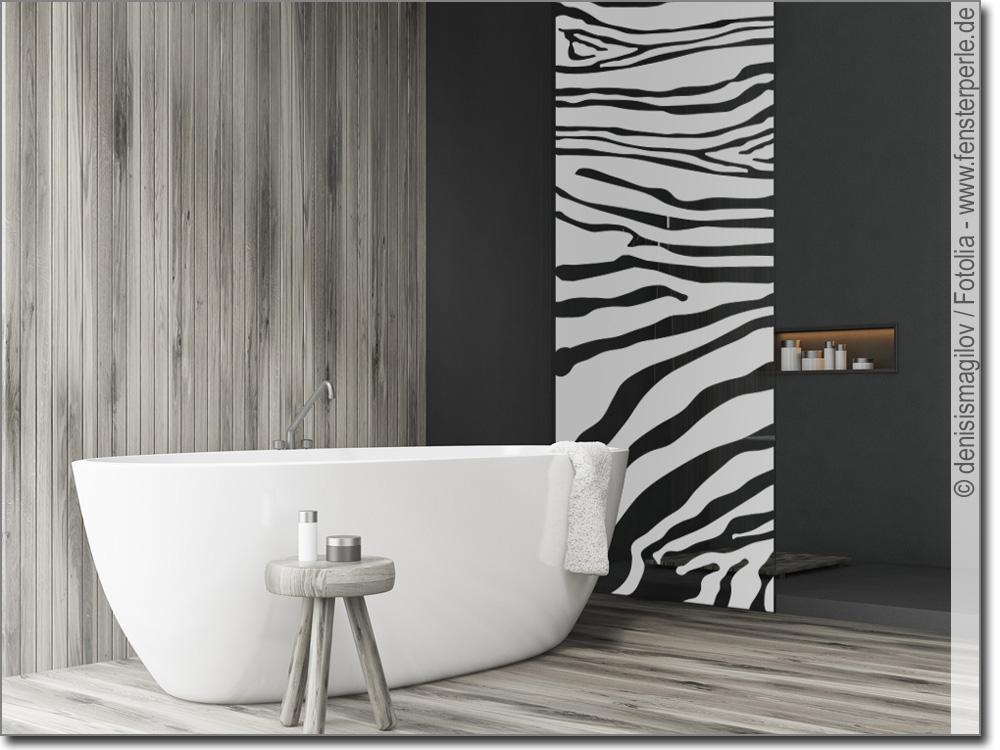 glasfolie zebra. Black Bedroom Furniture Sets. Home Design Ideas