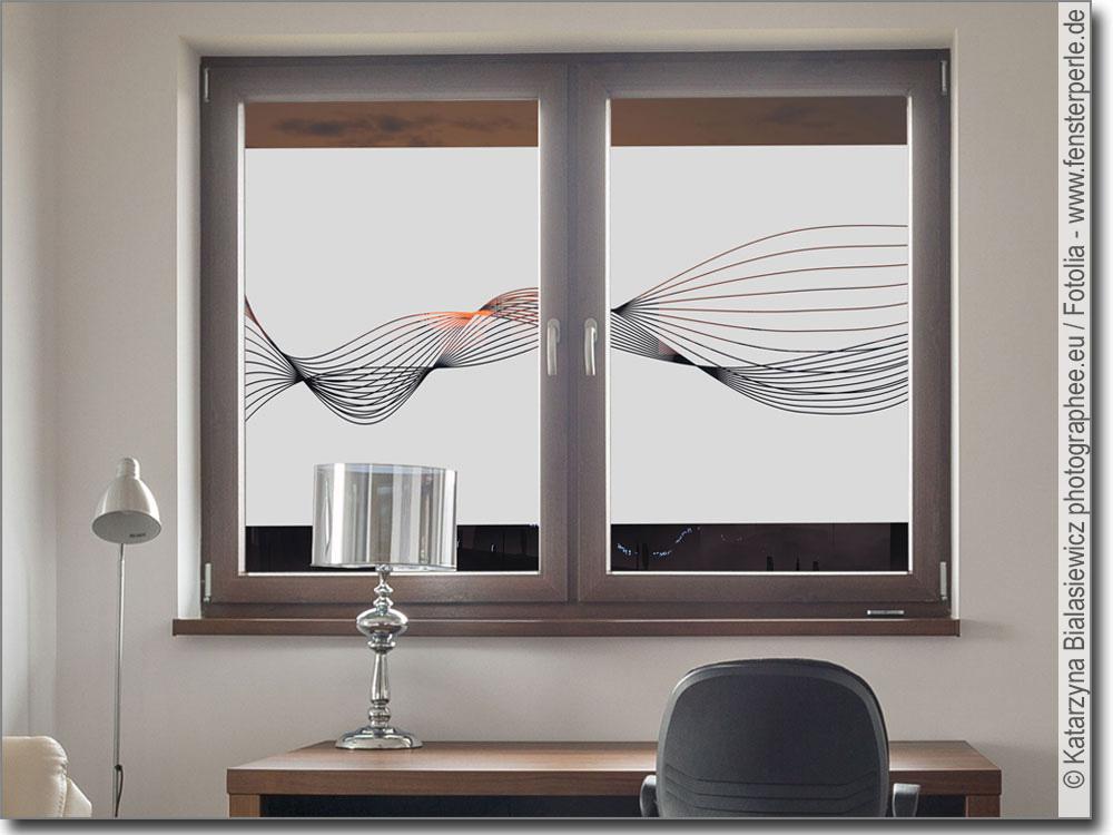 Sichtschutzbanner wellen - Sichtschutzfolie badfenster ...