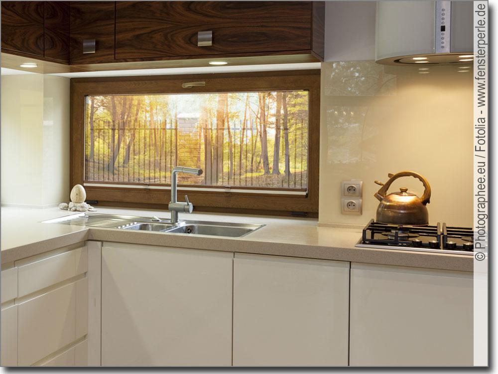 Fensterbild sonnenaufgang im wald foto klebefolie for Bedruckte klebefolie