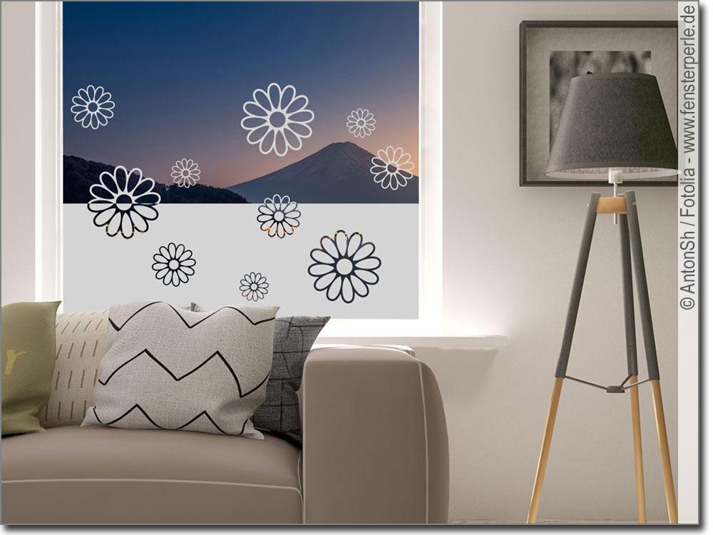 milchglasfolie sichtschutz blumen. Black Bedroom Furniture Sets. Home Design Ideas