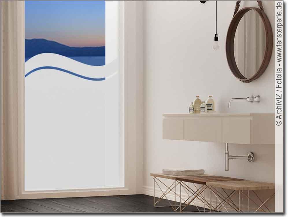 blickdichte fensterfolie welle. Black Bedroom Furniture Sets. Home Design Ideas