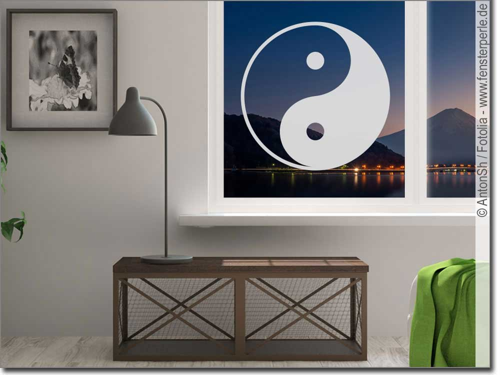 fenstertattoo yin und yang. Black Bedroom Furniture Sets. Home Design Ideas