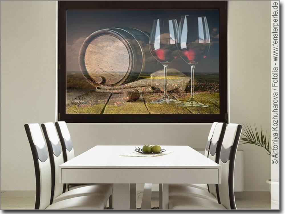 glasbild wein und genuss als fensterfolie f r glas. Black Bedroom Furniture Sets. Home Design Ideas