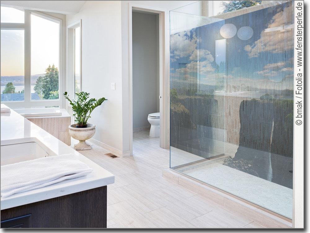 Foliendruck tosender wasserfall fensterbild aufkleber for Transparente klebefolie