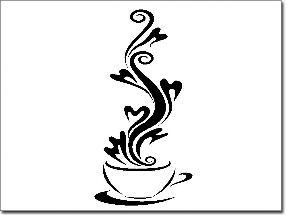 scheibenfolie coffee love. Black Bedroom Furniture Sets. Home Design Ideas