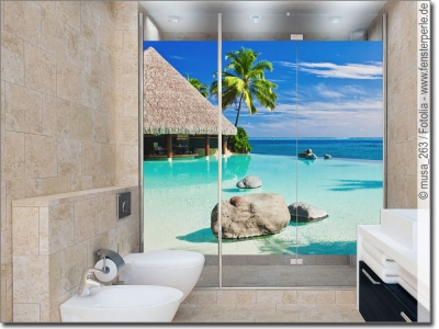 Fotofolie skylines landschaften f r glas passgenau - Glasbild badezimmer ...