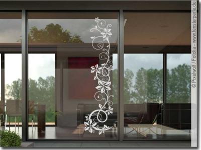 elegante glasfolie f r scheiben fenster im wohnzimmer. Black Bedroom Furniture Sets. Home Design Ideas