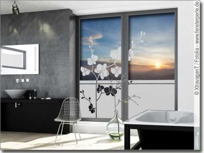 sichtschutzfolie mit pflanzen als sichtschutz f r glas. Black Bedroom Furniture Sets. Home Design Ideas