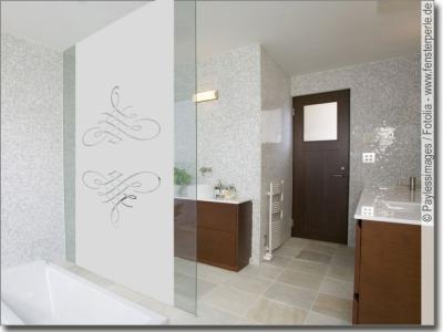 sichtschutzfolie mit klassischen designs nach ma. Black Bedroom Furniture Sets. Home Design Ideas