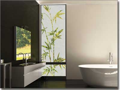 Sichtschutzfolie mit pflanzen als sichtschutz f r glas for Dekorfolie bad